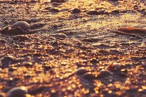 Glittering Sand at Sunrise