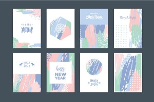 8 Christmas and New Year cards