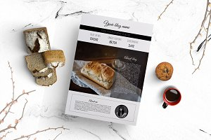 2 page media kit (food blog)