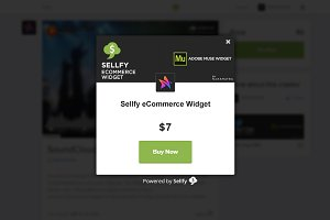 Sellfy eCommerce Adobe Muse Widget