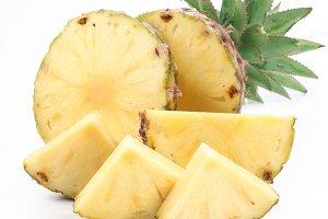 Cut ripe pineapple