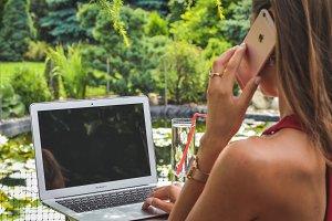 Woman working in amazing garden #9
