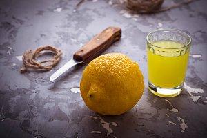 Limoncello, Italian lemons liqueur