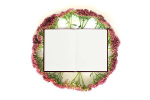 Flower Frame Mock Up