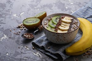 Smoothie in bowl