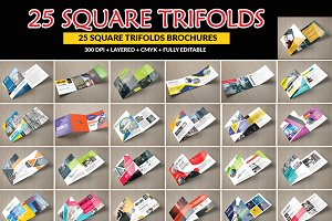 25 Square Trifold Brochure Bundle