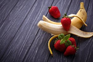 Strawberry with banana