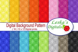 Digital Paper Backgrounds - Rainbow