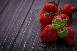 Sweet ripe strawberry