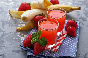 Strawberry and banana juice