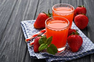 Sweet strawberry juice