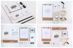 16 Essentials Mockups Pack / 16 PSD
