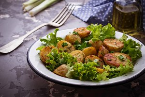 Salad with potato