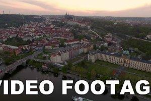 Prague cityscape and Vltava river