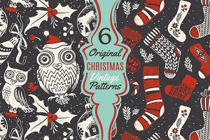 Vintage Christmas Cartoon Patterns