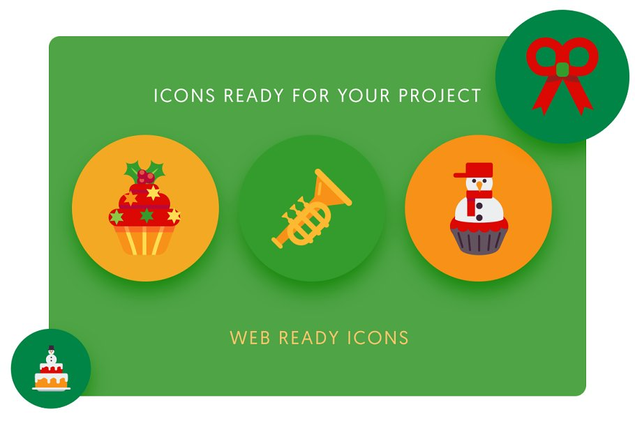 50 Christmas Icons Vol.2 in Christmas Icons - product preview 5