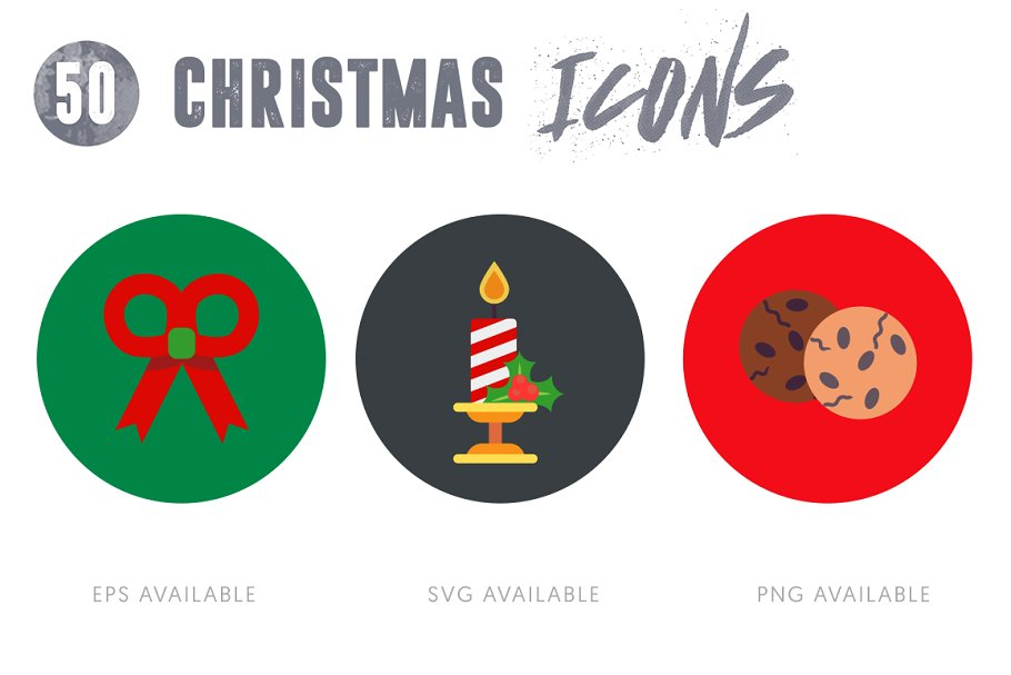 50 Christmas Icons Vol.2 in Christmas Icons - product preview 1