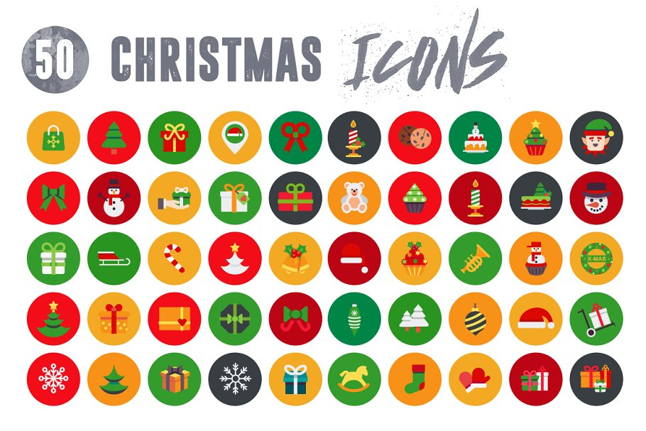 50 Christmas Icons Vol.2 in Christmas Icons - product preview 3