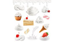 Sweet 3d vector icon set