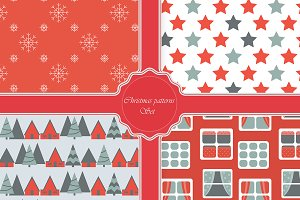 Christmas modern patterns set.