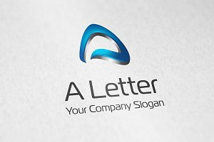 Letter A logo vector icon