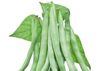 green beans isolated on a white