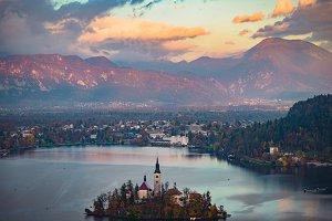 Lake, mountain landscape,Slovenia
