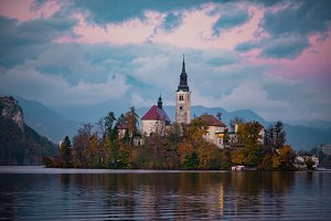 Church on Bled Lake, Slovenia