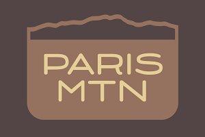 Paris Mountain Typeface
