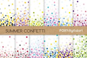 Confetti Digital Paper Scrapbook