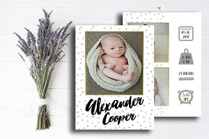 Birth Announcements Template