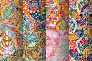 8 Indian Seamless Patterns