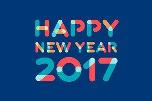 New Year 2017 Card