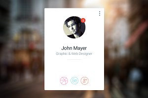 Clean User Profile Widget