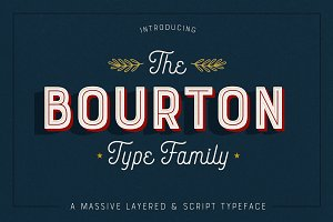 Bourton Typeface • 34 Fonts