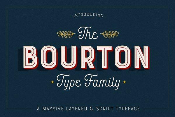 Bourton Typeface • 34 Fonts
