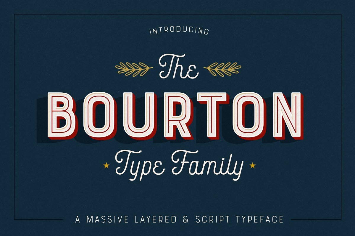 Bourton Typeface • 34 Fonts ~ Display Fonts ~ Creative Market