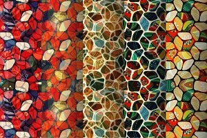 5 Mosaic Seamless Patterns