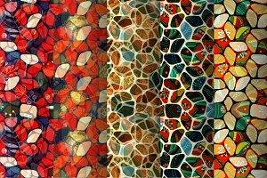 5 Mosaic Seamless Patterns