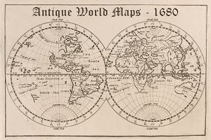 Antique World Maps - 1680
