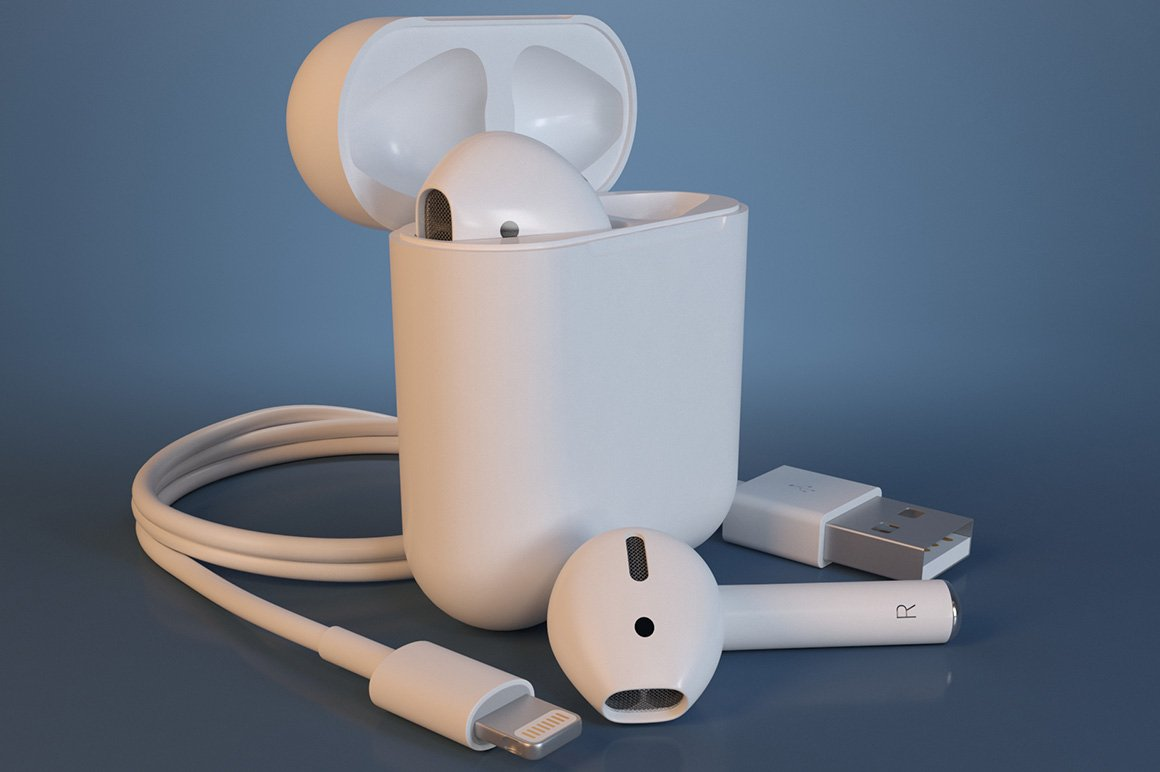 Apple Airpods 3d Print High Quality 3d Electronics Creative Market