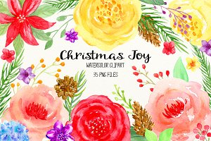 Watercolor Christmas Joy