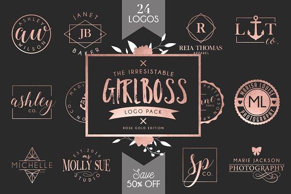 Girlboss Logo Template Bundle - SALE