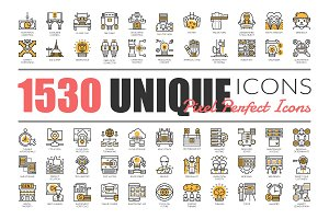 1530 UNIQUE LINE ICONS