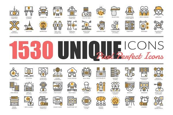 1530 UNIQUE LINE ICONS