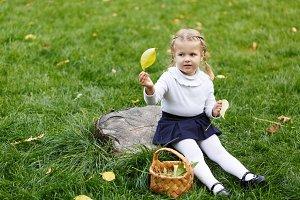 Little girl braided basket.