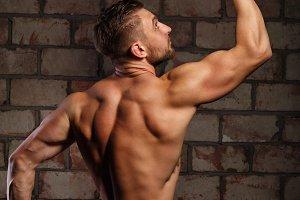 Man athlete posing.