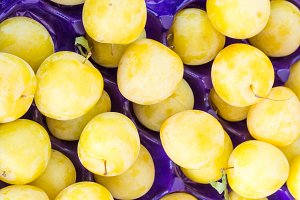 Yellow plums at the market