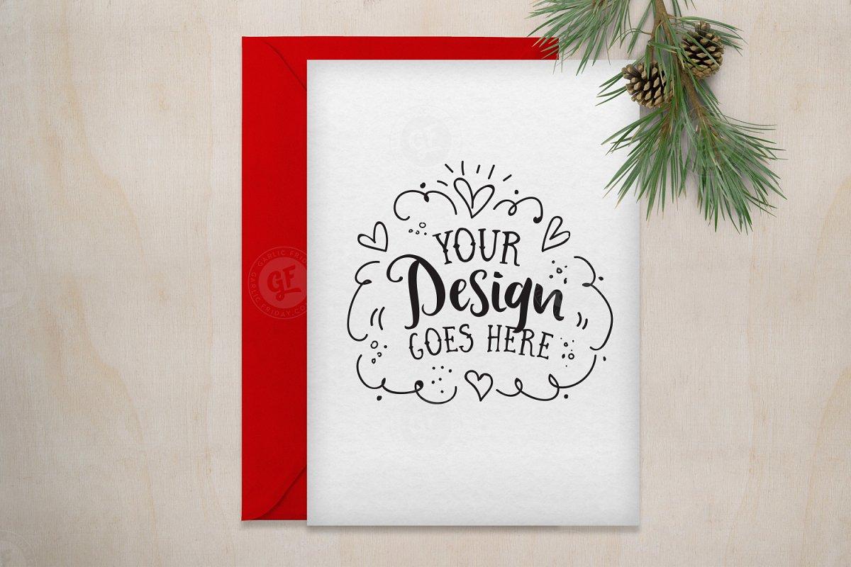 d172d7f09bd5 Christmas Greet Card Mockup ~ Print Mockups ~ Creative Market