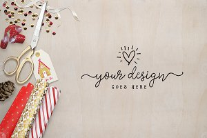 Gift Wrapping Styled Desktop